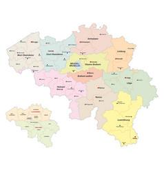 Administrative map of belgium vector