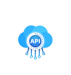 Api application programming interface cloud vector