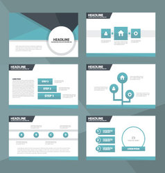 Blue and Black presentation templates Infographic vector