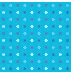 Blue winter seamless pattern with snowflakes vector image