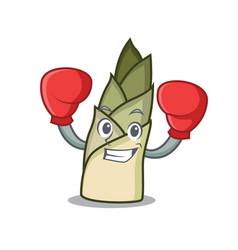 Boxing bamboo shoot character cartoon vector