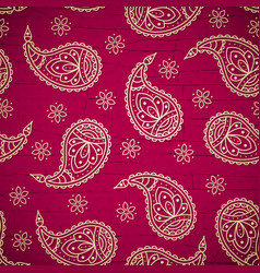 Bright pattern with paisley vector