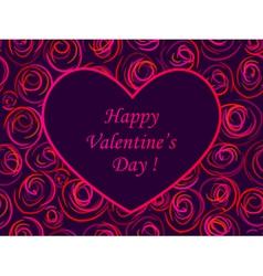 card valentine vector image