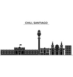 chili santiago architecture city skyline vector image