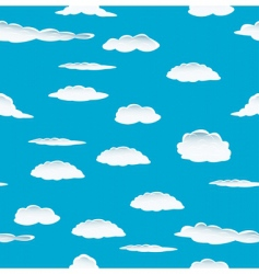 cloud background vector image