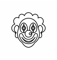 Clown icon in outline style vector image