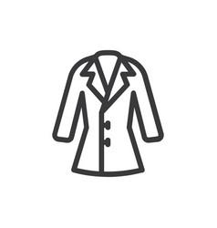 coat icon vector image