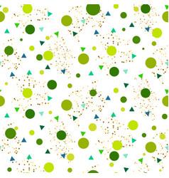 Confetti seamless greenery glitter white vector