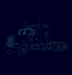 contour of the truck without a trailer isometric vector image