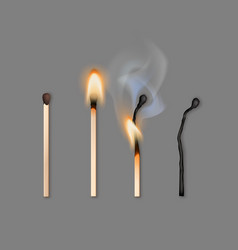 different phases of burning vector image