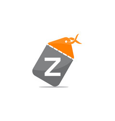 discount shop initial z vector image