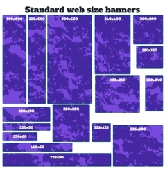 Empty box standard size web banners blank set vector
