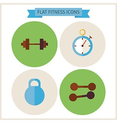 Flat Sport Fitness Website Icons Set vector image