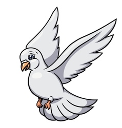 Flying white dove 2 vector