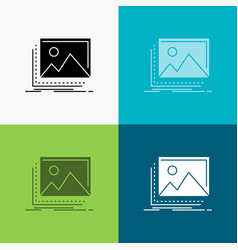 Gallery image landscape nature photo icon over vector