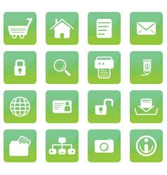 Glossy eco web icons vector