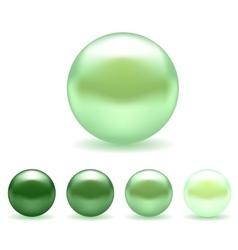 Green pearl set vector