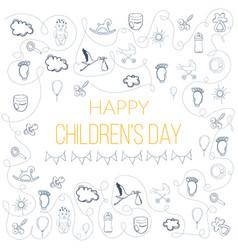 Happy childrens day vector