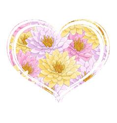 heart of lotus flowers vector image