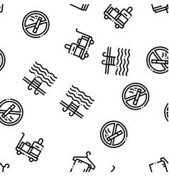 Hostel seamless pattern vector
