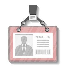 Identification name tag holder template vector