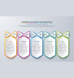 infographic design with 5 process or steps vector image