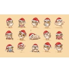 isolated Emoji character cartoon owl vector image