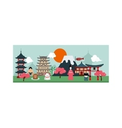 Japan poster scenery banners concept culture vector