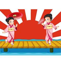 Japanese girls vector