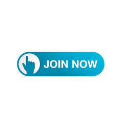 Join us now web button - rounded active ui element vector