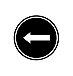 left arrow flat icon vector image