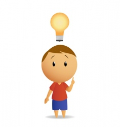 man and lamp vector image