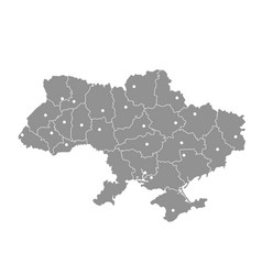Map of ukraine with crimea peninsula donetsk and vector