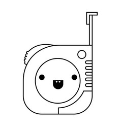 measure tape icon monochrome kawaii silhouette vector image