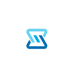Modern letter sm logo icon image vector