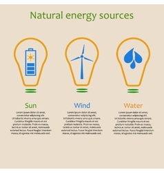 Natural energy sources vector image