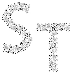 ornamental letter qr vector image