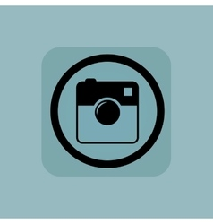 Pale blue square camera sign vector