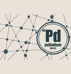 palladium chemical element vector image
