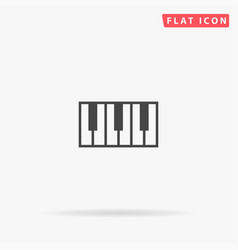 Piano keys flat icon vector