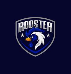 rooster mascot sport logo design vector image