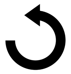 Rotate Left Flat Icon vector