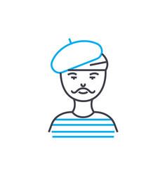 sailor linear icon concept sailor line vector image
