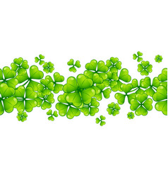 saint patricks day seamless pattern with clover vector image