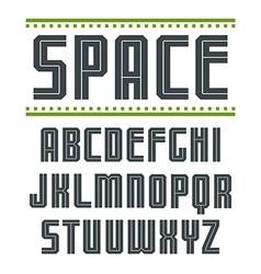 Sans serif font in sport style vector