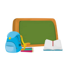 school book cartoon vector image