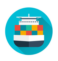 Sea transportation logistic sea freight cargo vector