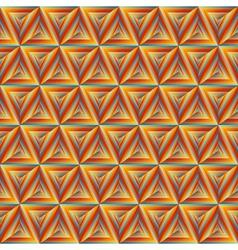 Seamless Orange Triangulate Pattern vector