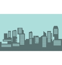 Silhouette of building industry flat vector image