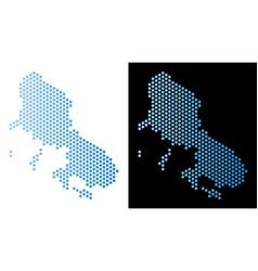 Skyros greek island map hexagon abstraction vector